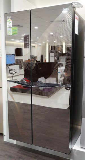 Зеркальный холодильник LG