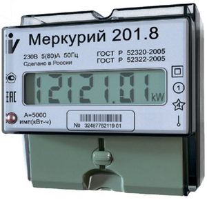Счетчик света меркурий 201