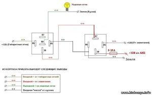 s hema podkyucheniya ognei - Схема подключения дхо с отключением