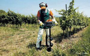 Мотобур-приспособление для земляных работ